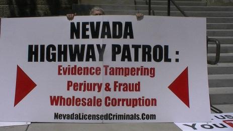 Nevada Highway Patrol protests